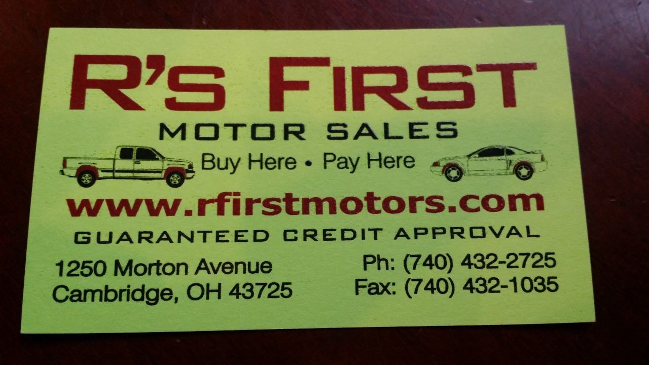 R's First Motor Sales Inc